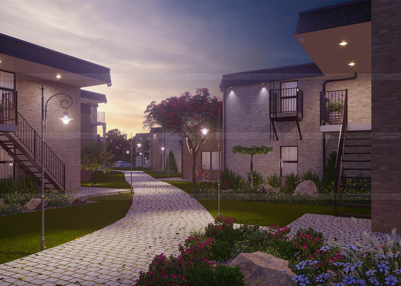 3D Residential House Exterior View