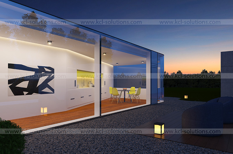 Courtyard Sitting Exterior View Rendering