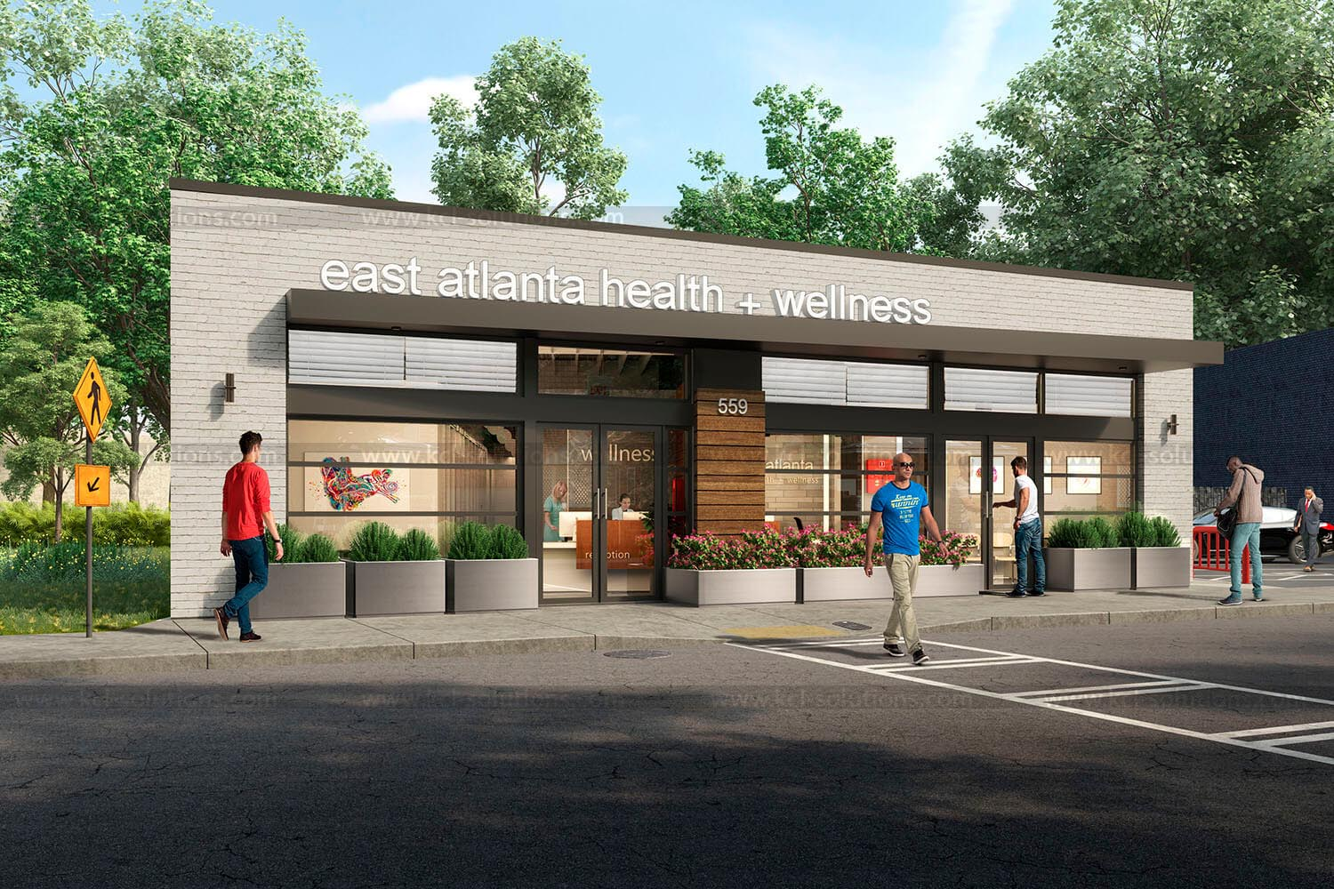 Helth & Wellness Center 3D Exterior Design