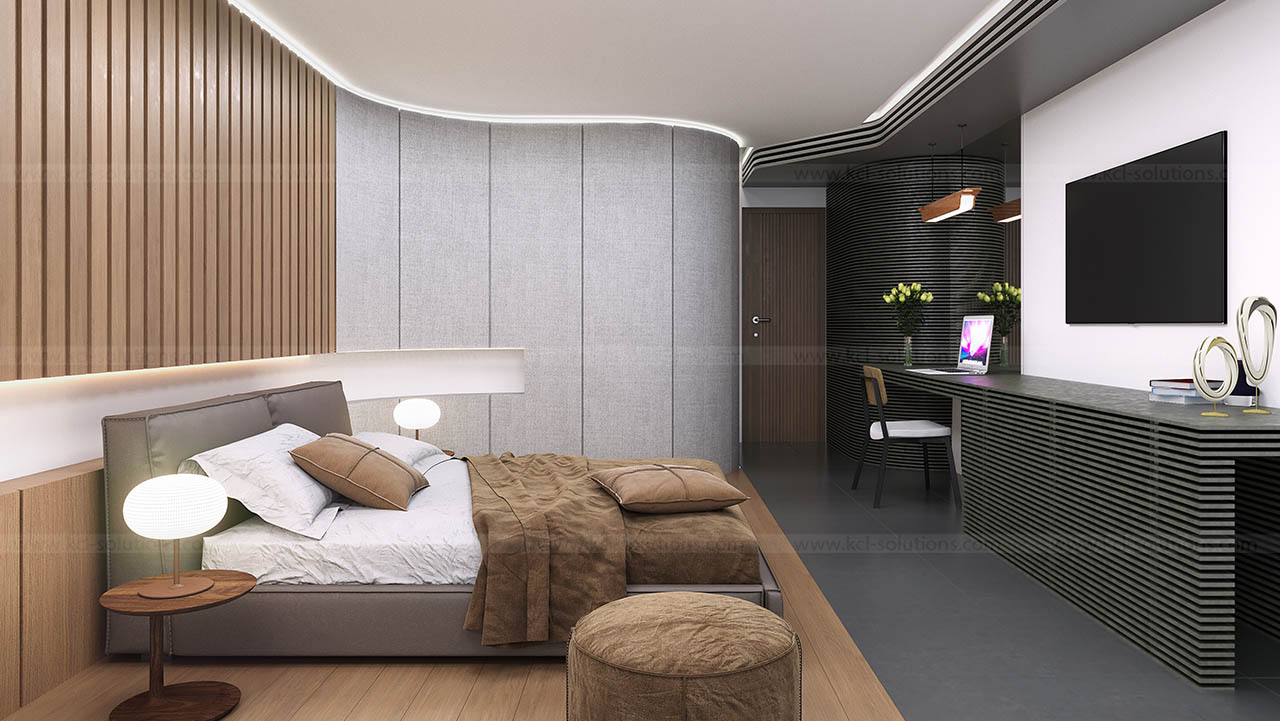 Interior 3d rendering design architectural interior for Bedroom designs usa