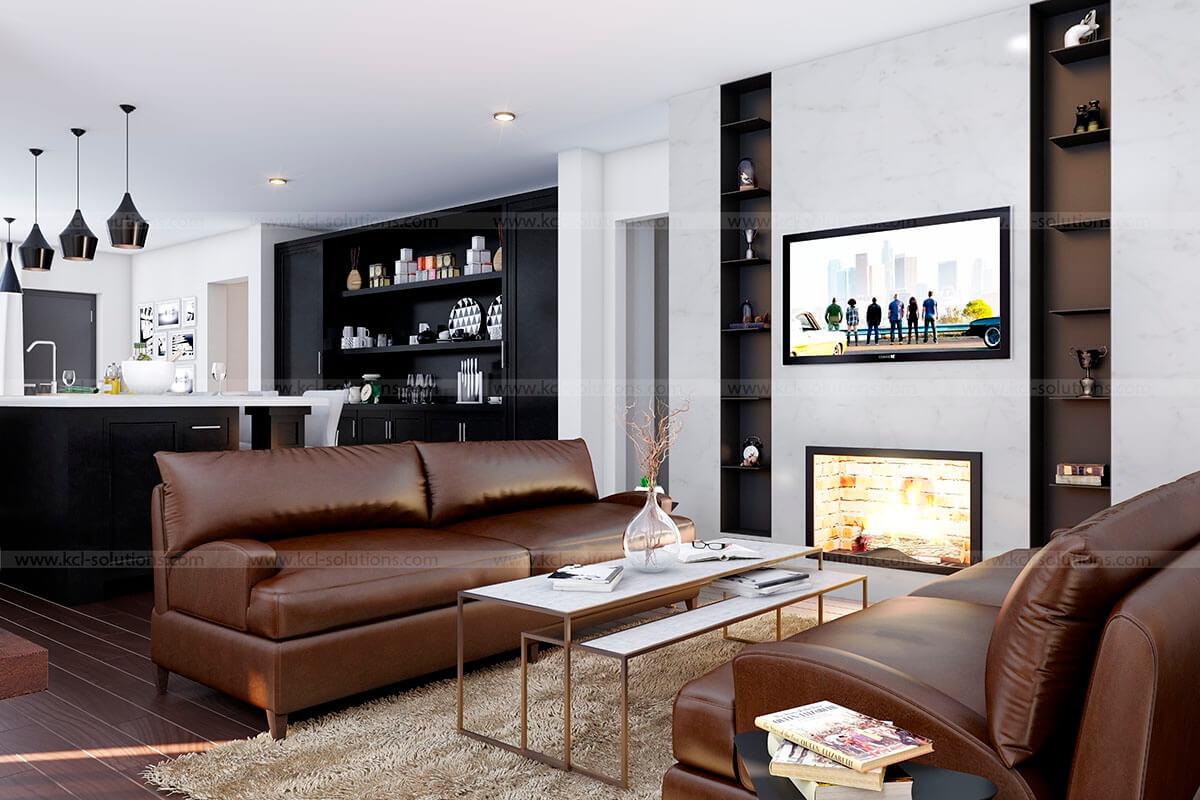 Interior 3d rendering design architectural interior for Design your living room 3d
